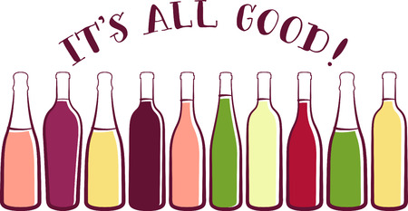 Show off your love of wine with this fun design. This will look great on aprons, banners, placemats, tote bags and more.