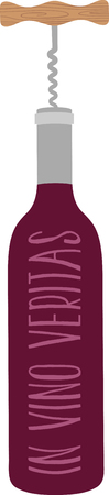 Show off your love of wine with this neat bottle opener design. This will look great on aprons, placemats, tote bags and more.