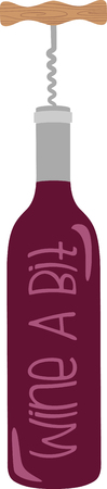 drink tools: Show off your love of wine with this neat bottle opener design. This will look great on aprons, placemats, tote bags and more.