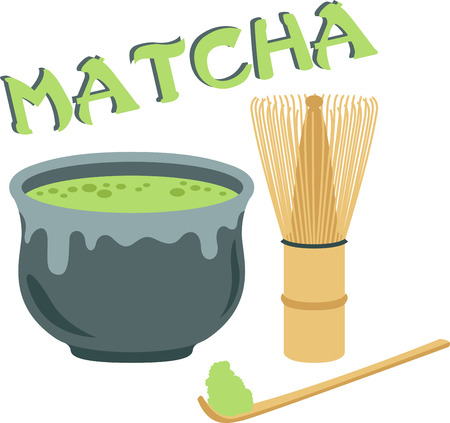 Go green with this Matcha tea set design. This will look great on banners, placemats, tote bags and more. Çizim