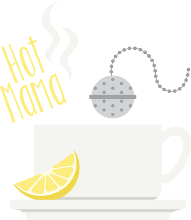 Its time for tea with this fun design. This will look great on placemats, aprons, napkins, tote bags and more. Illustration