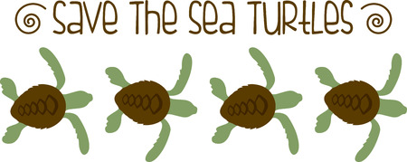 turtles love: Show off your love of sea turtles with this adorable border design. This will look great on t-shirts, hand towels, throw pillows, tote bags and more.