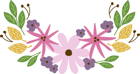 Personalize your project with this lovely floral border design. This will look great on sweaters, hand towels, throw pillows, tote bags and more.