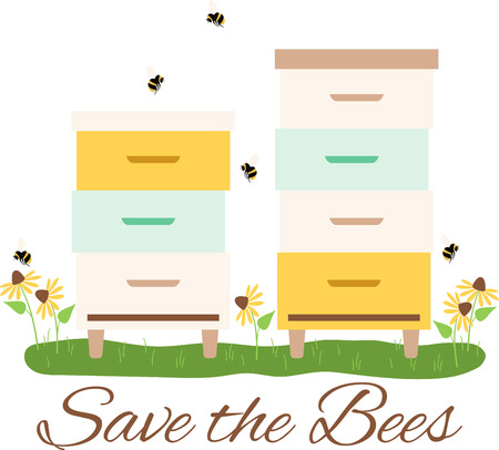 Beekeepers will love this buzzing box design. This will look great on t-shirts, banners, tote bags and more.