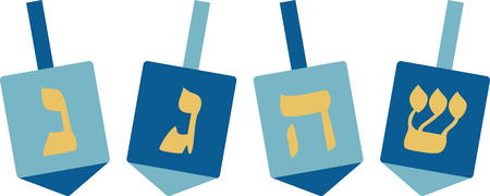 Deck the halls and the rest of your home in Hanukkah cheer with this design on your holiday projects. Ilustrace