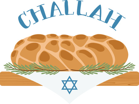 The sight and smell of the challah loaves revives every Jewish soul with the reminder that Shabbat is nearby.  Ring in the holidays with this design on table runners, framed embroidery and more!