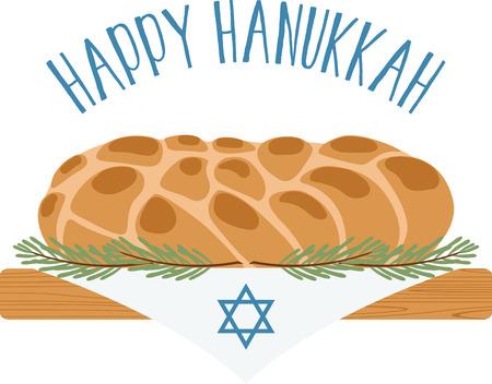 shabat: La vista y el olor de los panes Jalá revive cada alma judía con el recordatorio de que el Shabat está cerca. Anillo en los días de fiesta con este diseño en caminos de mesa, enmarcado bordados y más!