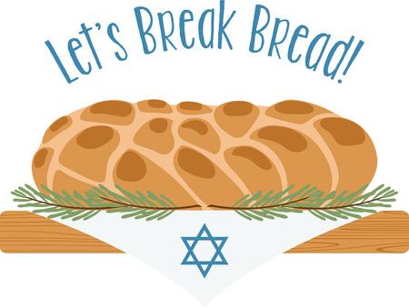 De aanblik en de geur van de challah broden herleeft elke Joodse ziel met de herinnering dat Sjabbat is vlakbij. Ring in de vakantie met dit ontwerp op tafellopers, omlijst borduren en nog veel meer!