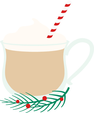 eggnog: No drink signals the advent of the Yuletide more than eggnog. That chilled, sweetened and frothy treat.  Just in time for holiday libations, enjoy this design on your holiday projects.