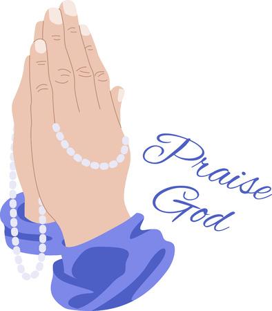 Showcase van de beloften van God en de verklaringen van het geloof op religieuze thema projecten, zoals de Bijbel covers, bookmarks, ingelijst borduurwerk en meer Stock Illustratie