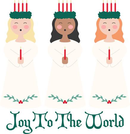 caroler: Celebrate the spirit of giving and spread Christmas cheer with this pretty design on pillows, wall hangings, totes and more!