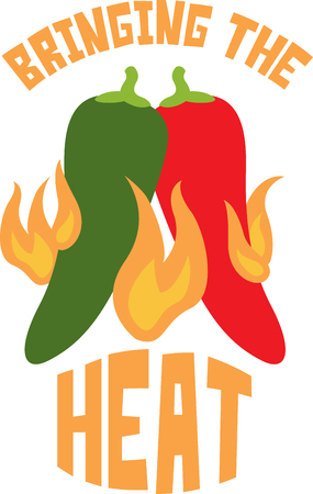Spice up your kitchen decor and chef's apparel with this design on kitchen linen, chef coats, apron and hats. 일러스트