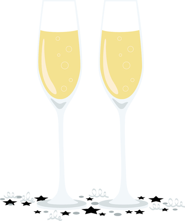 Toast to good health and cheer! Ring in the New Year with this perfect design on cocktail napkins and personalized gifts for loved ones! Illustration