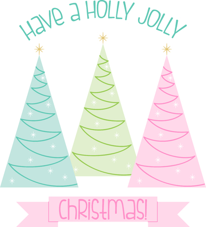 Star dust, holly boughs and plum cake.  Send tidings of sweetness and peace with this design on your Christmas projects! Illustration