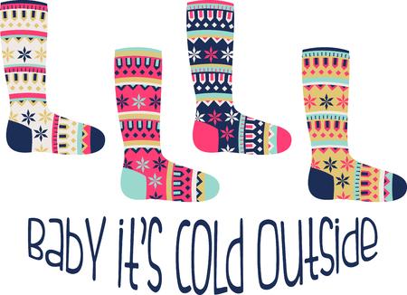 스웨터, 스웨터 및 기타 휴일 프로젝트에이 디자인 크리스마스의 화려보세요! 일러스트