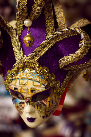 Typical carnival mask of the city of Venice. Costume to cover the face during the celebration of the carnival.