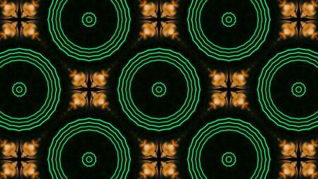Modello frattale astratto con fili d'oro. Figura geometrica di forme ripetitive.