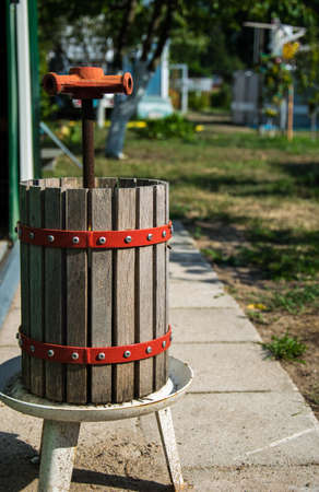 Winepress Stock Photo