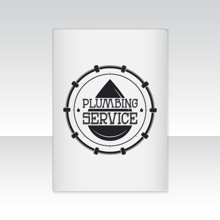 home repairs: Plumbing service. Home repairs. Repair and maintenance of buildings. Set of Typographic Badges Design Elements, Designers Toolkit. Flat vector illustration