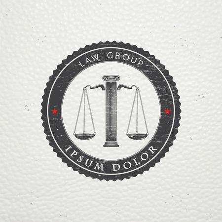 abogado: Servicios de abogado. Oficina de Leyes. El juez, el fiscal, el abogado de etiquetas de la vendimia. Viejo grunge retro vintage. Tipogr�fico etiquetas, pegatinas, insignias y distintivos. Ilustraci�n vectorial Flat Vectores