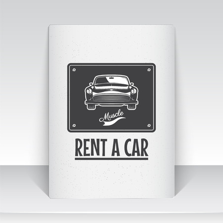 auto service: Auto service. Rent a Car. Garage auto. Detailed elements.