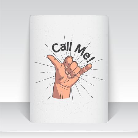 現実的なハンド ジェスチャー - 私を呼び出します。シャカの仲間。ジェスチャーと信号私の電話番号をダイヤル、私を呼んで、私の電話番号をダイ  イラスト・ベクター素材