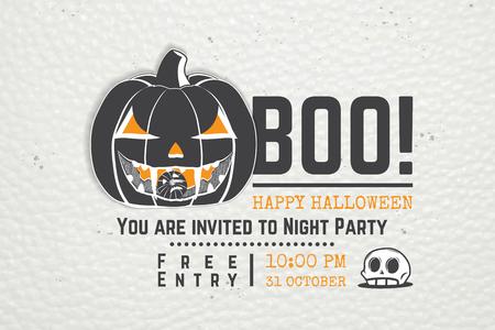 Invitation to a Halloween party design template  illustration. Çizim