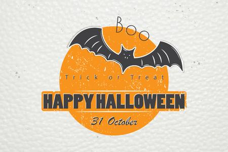 Happy Halloween. Invitation to a party of Halloween. Çizim