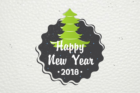 Happy New Year and Merry Christmas. Christmas shopping. Year of the dog. Detailed elements. Old retro vintage grunge. Typographic labels, stickers, logos and badges. Stok Fotoğraf - 91053156