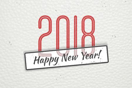 Nieuwjaar ontwerp achtergrond Stock Illustratie