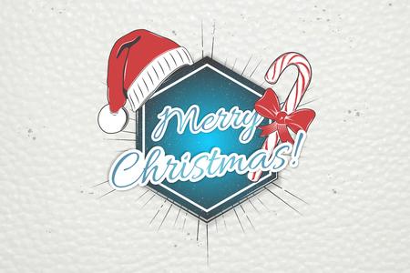 Gelukkig nieuwjaar en vrolijk kerstfeest. Kerstinkopen doen. Jaar van de hond. Gedetailleerde elementen. Oude retro vintage grunge. Typografische labels, stickers, logo's en badges. Platte vectorillustratie