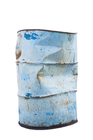 Old Steel Oil barrel photo