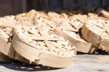 Thai Fishing Basket drying photo