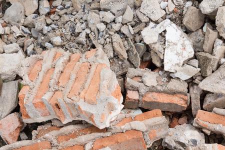 puin bouwplaats Stockfoto