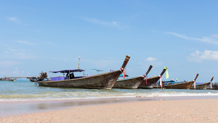 rule of thirds: Wooden boats on the beach