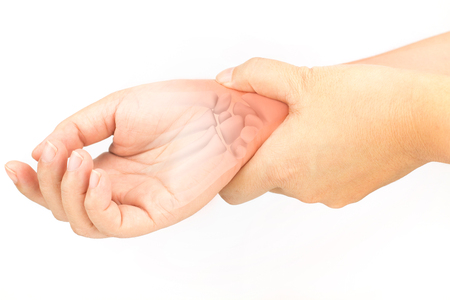 carpal tunnel syndrome: wrist bones injury Stock Photo