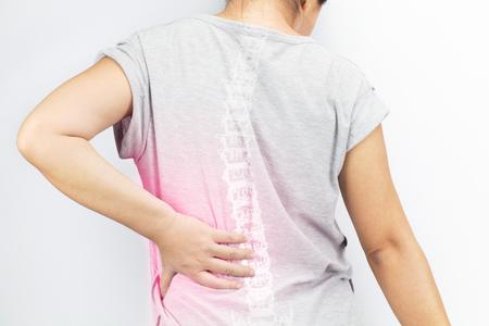 脊椎骨損傷白背景 写真素材