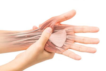 soreness: hand muscle pain