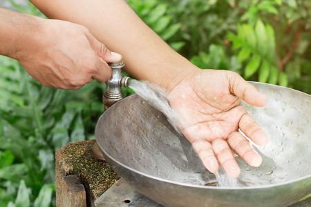 wash: wash hands