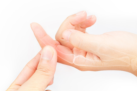 proximal: finger bone pain white background