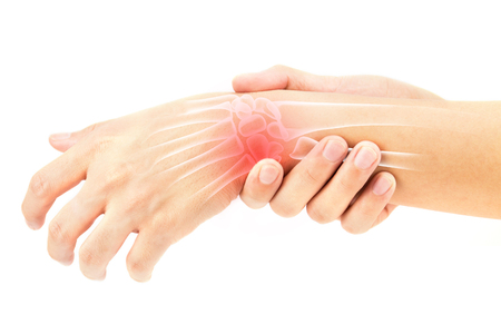 Handgelenk Knochen Verletzungen Standard-Bild - 74189275