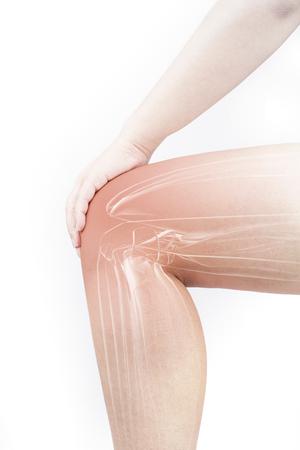 Knee muscle pain Stock Photo