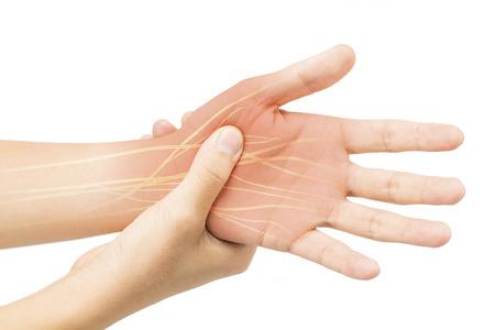 Douleur nerveuse à la main Banque d'images - 78950454