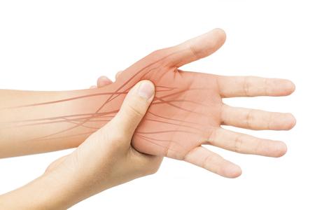 hand nerve pain Stok Fotoğraf