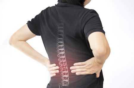 Blessure aux os de la colonne vertébrale Banque d'images - 81605358