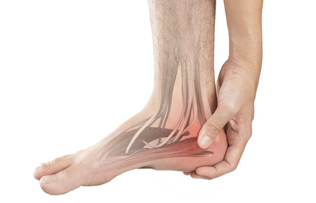 Fersenmuskelschmerzen Standard-Bild - 87128994