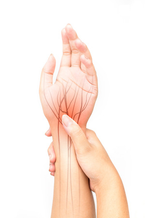 wrist nerve pain Stock Photo