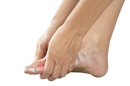 foot bones pain Stock Photo