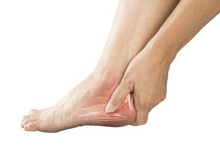 heel muscle pain Stock Photo