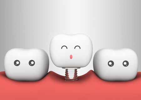 tooth 3D concept artificial tooth